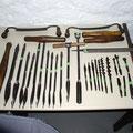 Werkzeuge für Wagnerei  ca. 1800  Holzgriffe gedrechselt, auswechselbar