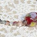 水中花とんぼ玉のネックレス