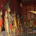 Buddha-Statuen, Begräbniskapelle, Wat Xieng Thong
