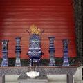 Keramikarbeit im Ahnentempel der Familie Chen