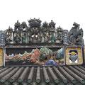 Dachverzierung am Ahnentempel der Familie Chen