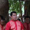 Musiker am Banteay Srei Tempel