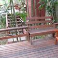 Vernachlässigte Terrasse, Sukantara Cascade Resort