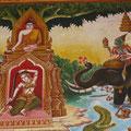 Wandmalerei, Wat Phra Phutthabat Tak Pha, Lamphun