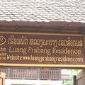 Eingang Luang Prabang Residence