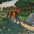 Wandmalerei, Wat Kukut, Lamphun