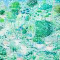 庭は森になりたい 2013-2014 キャンバス、アクリル 112.0×145.5㎝