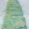 しだれ木の肖像 2014-2015 綿布、アクリル 162.0× 130.3㎝