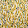 白熱灯の花游ぎ 2017 綿布、アクリル 38.0×45.5㎝