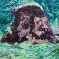 根の肖像 2014-2015 綿布、アクリル 130.3×162.0㎝