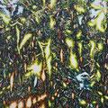 百鬼の日差しは夜を行く 2017 綿布、アクリル 100.0×80.3㎝
