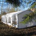 Januar 2015 - das Zelt steht