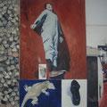 """""""Donnalata"""",olio su tela,180 cm x 130 cm"""