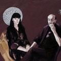 """Barbara&Guido"",olio su tela,150 cm x 100 cm"