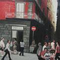 """La strada"",olio su tela,70 cm x 100 cm"