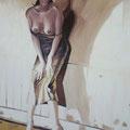 """""""Giulia"""",olio su tela,100 cm x 150 cm"""