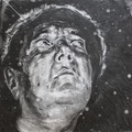 Sleep , 2017 , charcoal on paper , 150 x 211 cm