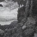 E.D.E.N , 2019 , charcoal on paper , 620 x 260 cm