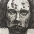 A Woman , 2017 , charcoal on paper , 104 x 123 cm