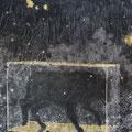 B.E.A.S.T , 2018 , charcoal , pastel , pigment on paper , 318 x 250 cm