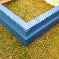 Das zweite Dachsegment ist blau