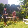 Basti und Karsten beim bauen
