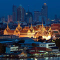 Grand palace at twilight in Bangkok  (c)Shutterstock/worradirek