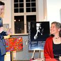 Lesekur / Trinkkuranlage / Kunstverein / Dr. Jasmin Behrouzi-Rühl - Foto Petra Ihm-Fahle, Ernst-Ludwig-Buchmesse 2019