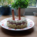 Frauchen hat meinen Geburtstag vergessen... Die Torte kam zwei Tage zu spät.