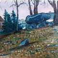 Dolmen bei Albersdorf,1995,40x50,Jens Walko