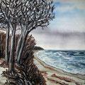 Ostsee bei Buelk,1996,40x50,Jens Walko