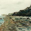 Abschied vom Meer,1996,50x70,Jens Walko