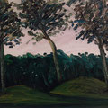 Grabhügel Birkenmoor,1996,40x50,Jens Walko