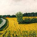 Strasse nach Dänisch Nienhof,1996,40x60,Jens Walko