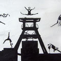 Jahr 100 Zeche Zollverein  70 x 100 x 4