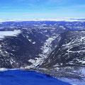 Blick ins Vestfjorddal und zum Tinnsjø