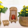Vase, coupe, lanterne et bénitier en bronze