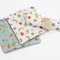 Set de 3 bee wrap motif fruits ou légumes 3 tailles