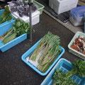 山菜が豊富です!私は最終日に購入するので、ひとまず偵察です