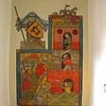 © Traudi – Burg Katzenstein - Wandmalerei Eroberung und Verteidigung
