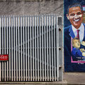 Mural in Belfast entlang der Peaceline
