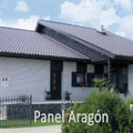 Casa con panel teja en Huesca
