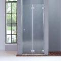 """MAMPARA DE DUCHA MODELO """"QUIJOTE"""". Frontal de ducha con 2 hojas pleglables."""
