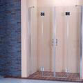"""MAMPARA DE DUCHA MODELO """"ARTNOVA-4"""". Frontal de ducha con 2 hojas fijas y 2 hojas abatibles."""