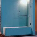 """MAMPARA DE BAÑO MODELO """"ARTNOVA-B1"""". Frontal baño con 1 hoja pivotante 180º."""