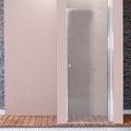 "MAMPARA DE DUCHA MODELO ""GOYA"". Frontal de ducha con 1 hoja pivotante 180º."
