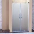 """MAMPARA DE DUCHA MODELO """"NOVALUX-2"""". Frontal de ducha con 2 hojas abatibles."""