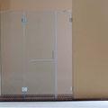 """MAMPARA DE DUCHA MODELO """"ARTNOVA-3"""". Frontal de ducha con 1 hoja abatible y 2 hojas fijas."""