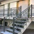 Barandilla de aluminio para escalera