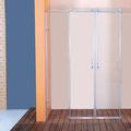 """MAMPARA DE DUCHA MODELO """"ONASSIS-4"""". Frontal de ducha con 2 hojas fijas y 2 correderas."""